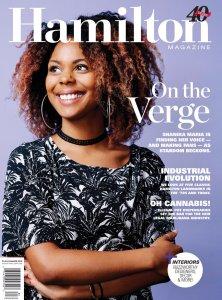 Shanika Maria on the cover of Hamilton Magazine, Summer 2018