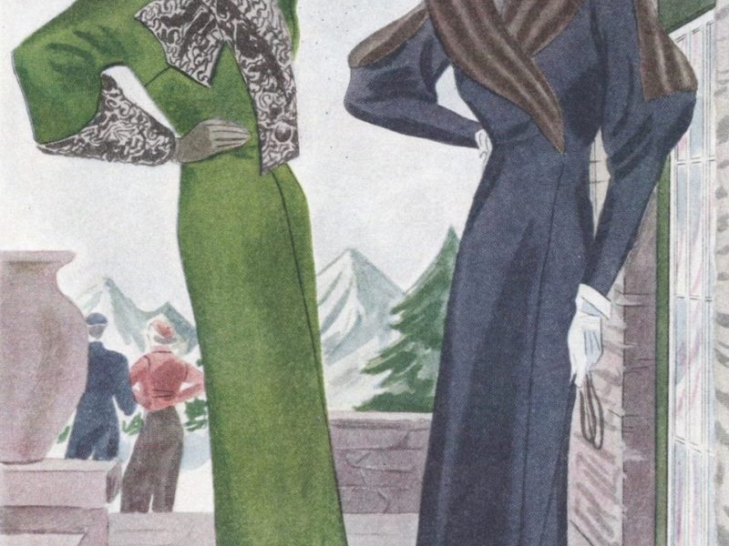 Two couture coats in the Spring 1933 McCall Fashion Book