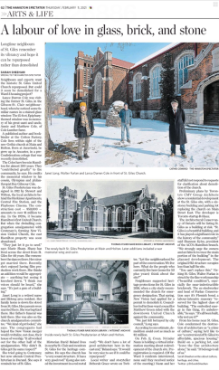 A labour of love in glass, brick, and stone - St. Giles in the Hamilton Spectator