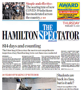 Spectator front page, Thursday, February 11, 2021