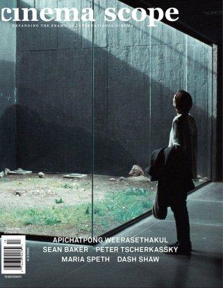 "Tilda Swinton in Apichatpong Weerasethakul's MEMORIA on the cover of Cinema Scope (""expanding the frame on international cinema"") Fall 2021 no. 88"